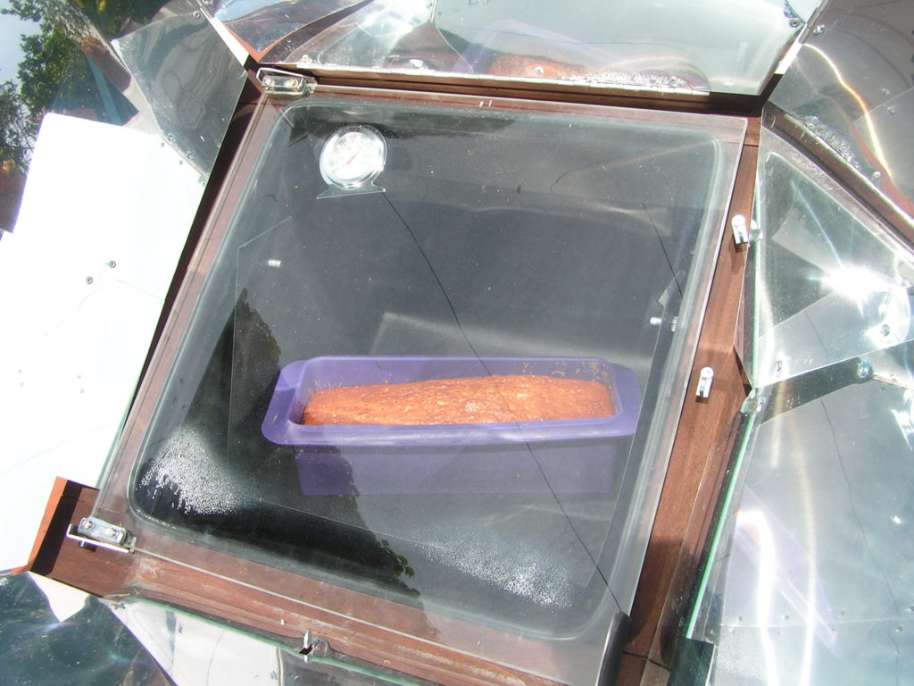 Cake au four solaire